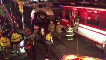 choque camion transporte y tren ligero deja tres heridos guadalajara