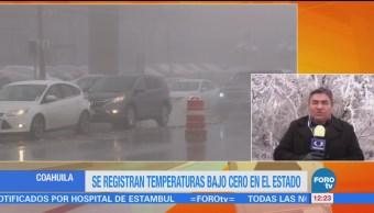 Coahuila registra heladas, frío intenso y niebla