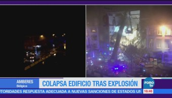 Colapsa Edificio Bélgica Explosión