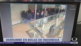 Colapsa pasillo de la Bolsa de Yakarta; hay 50 heridos