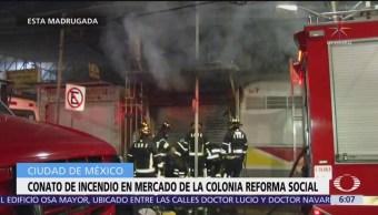 Conato de Incendio en mercado de la colonia Reforma Social