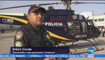 Cóndores de la Policía de la Ciudad de México salvan vidas