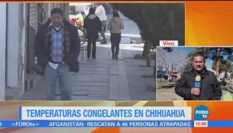 Continúa el intenso frío en Chihuahua