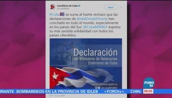 Cuba Rechaza Comentarios Racistas Donald Trump