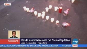 Damnificados Sismo 19s Colocan Veladoras Zócalo