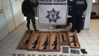 Decomisan armas largas en Salamanca, Guanajuato