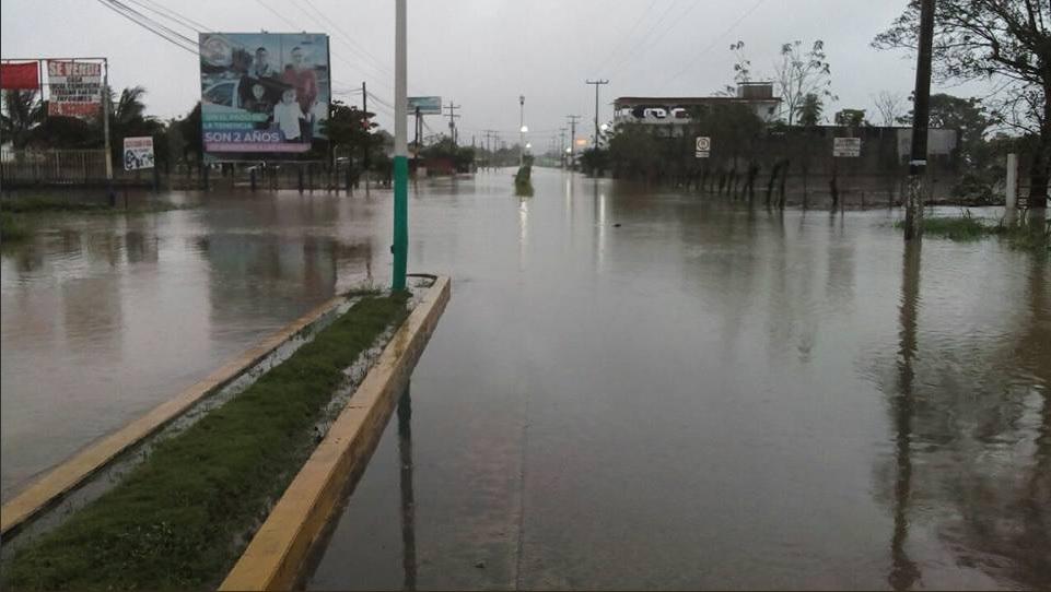 Lluvias provocan afectaciones en municipios de Tabasco