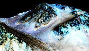 Científicos detectan glaciares cerca superficie Marte