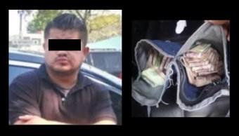 Detienen a un hombre con 350 mil pesos en efectivo en Cuauhtémoc