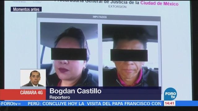 Detienen a dos personas por extorsionar a un comerciante en CDMX