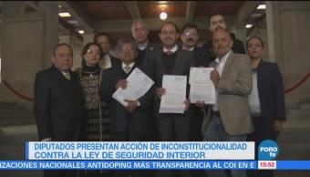 Diputados presentan acción de inconstitucional contra Ley de Seguridad Interior