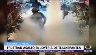 Dispositivo de seguridad frustra asalto a joyería en Tlalnepantla