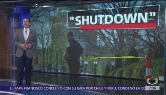 Donald Trump culpa a los demócratas por el cierre de gobierno