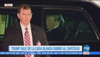 Donald Trump Casa Blanca Rumbo Capitolio