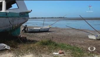 El mar se aleja de las playas de Campeche
