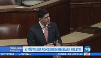 País Vive Una Incertidumbre Innecesaria Paul Ryan