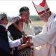 El papa almuerza con miembros del pueblo mapuche en Chile