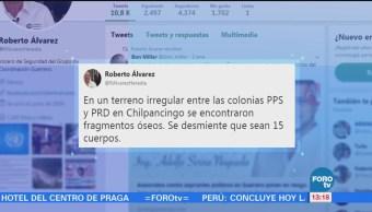 Encuentran fosa con 4 cuerpos en Guerrero