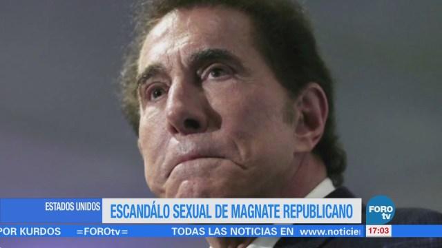 Escándalo sexual de magnate republicano