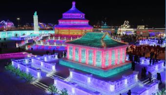 Inauguran el festival de Hielo de Harbin, en China