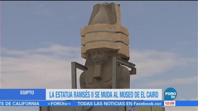 Estatua de Ramsés II se muda al museo de El Cairo