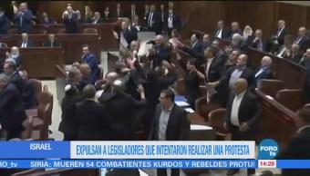 Expulsan a varios legisladores árabes por manifestación contra Mike Pence