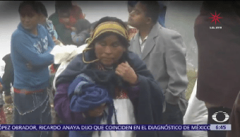 Familias Tzotziles Regresan Casas Chiapas