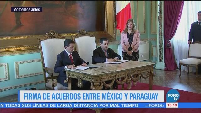Firma de acuerdos entre México y Paraguay