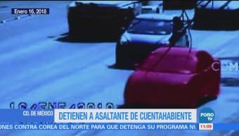 Gobierno CDMX presenta video sobre detención de asaltante de cuentahabientes