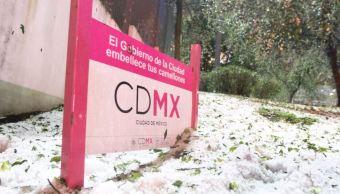 Activan alerta amarilla por caída de lluvia y granizo en la CDMX