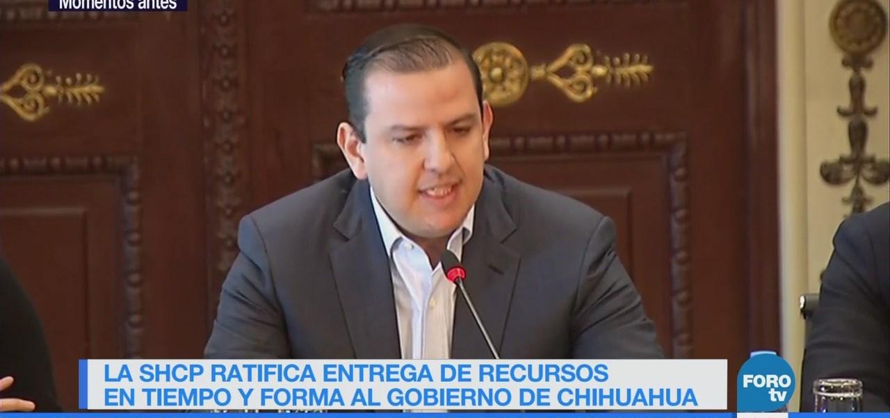 Hacienda ratifica entrega de recursos a Chihuahua