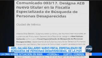 Nuevo Fiscal Especializado Búsqueda Personas Desaparecidas
