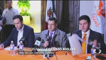 Hijo de Colosio anuncia un proyecto ciudadano