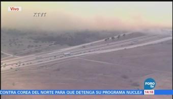 Incendio afecta tránsito en condado Parker, Texas