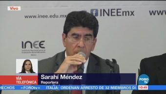 INEE presenta resultados de la prueba 'Planea tercero de secundaria'