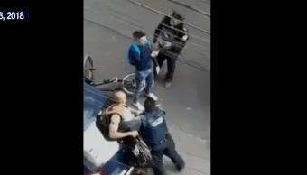 Investigan a policías de la CDMX por la agresión a peatón