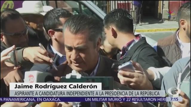 Jaime Rodríguez Calderón habla de irregularidades en la recolecta de firmas
