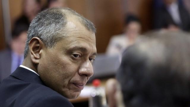 Jorge Glas pierde cargo de vicepresidente de Ecuador