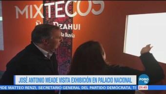 José Antonio Meade visita exhibición en Palacio Nacional