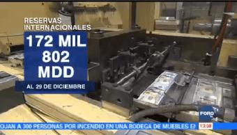 Reservas Internacionales Aumentan 337 Mdd
