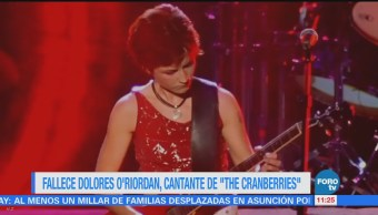 #LoEspectaculardeME: Fallece Dolores O'Riordan, cantante de The Cranberries