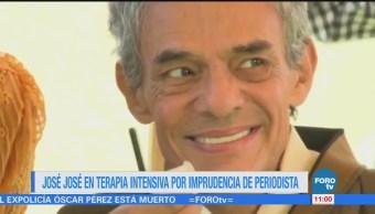 #LoEspectaculardeME: José José en terapia intensiva por imprudencia de periodista
