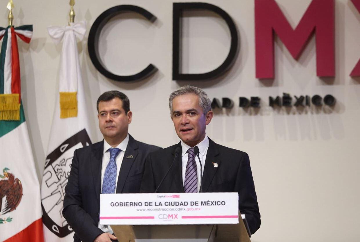 Miguel Angel Mancera presentó su programa de reconstrucción para la CDMX