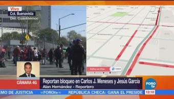Manifestantes bloquean calles de la colonia Buenavista, CDMX