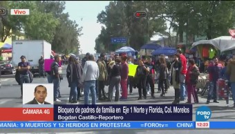 Manifestantes cierran Eje 1 Norte, en la CDMX