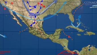 Frente frío mantiene bajas temperaturas en 22 entidades de México