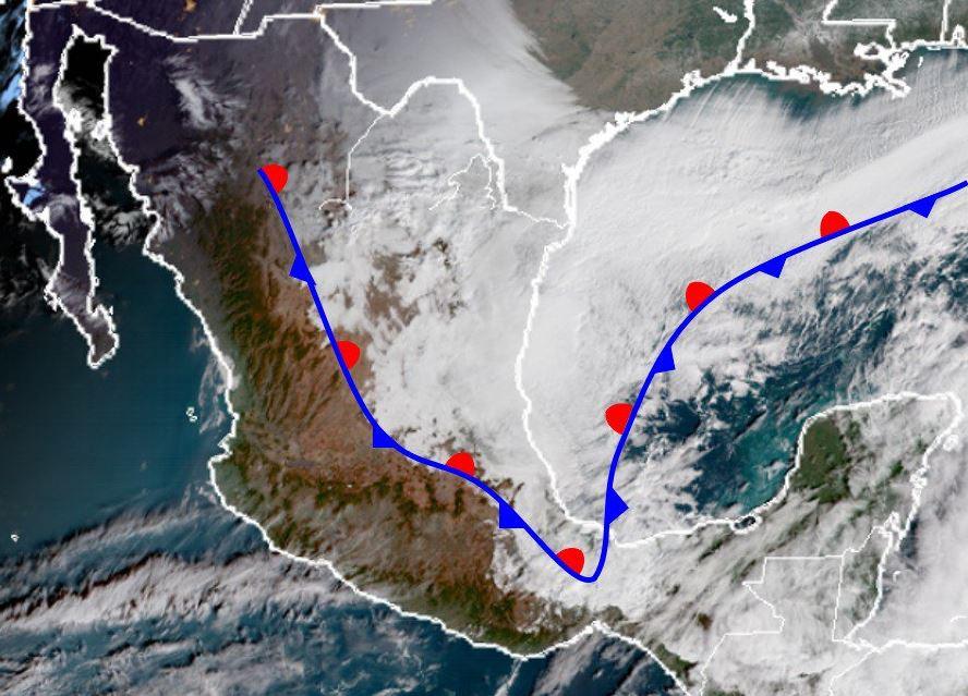 Frente frío 23 mantiene bajas temperaturas en México; sigue potencial de nevadas. (SMN)