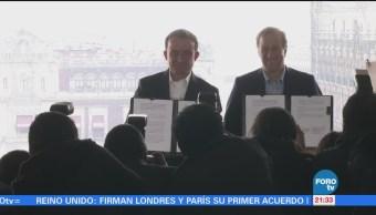 Meade y Arriola firman pacto para transformar la Ciudad de México