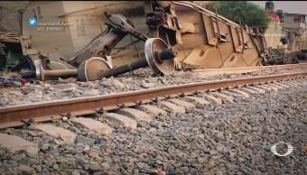 Menor de 12 años sobrevive a descarrilamiento de tren, en Ecatepec