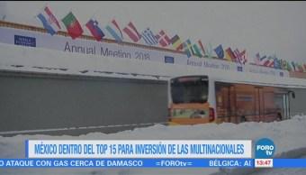 México, en el top 15 de los países más importantes para invertir